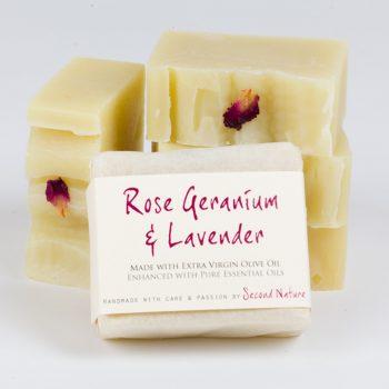 Rose Geranium & Lavender Handmade Soap