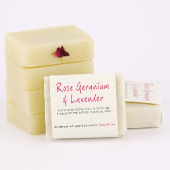 Rose Geranium Mini Handmade Soap (standard)
