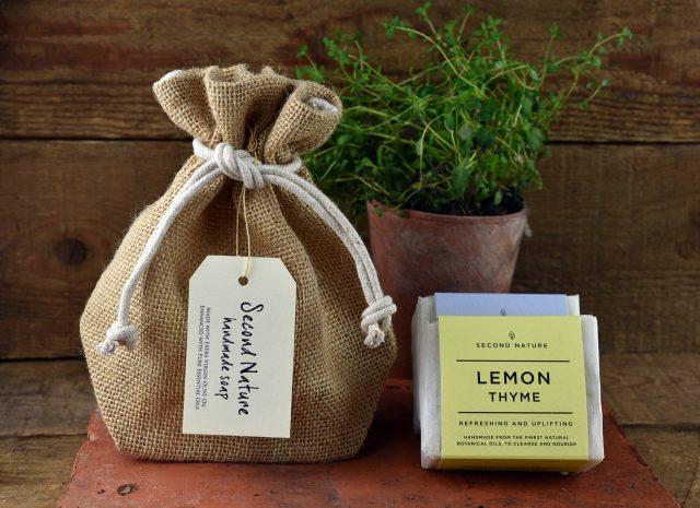 Hessian Gift Bag of Handmade Soaps